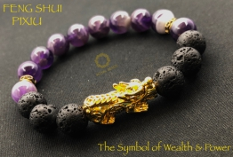 Lava Stone and Amethyst G...