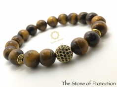 Yellow Tiger Eye Exquisite Beaded Bracelet.
